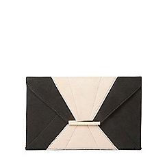 Dorothy Perkins - Black and blush envelope clutch bag