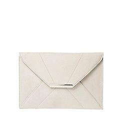 Dorothy Perkins - Light grey envelope clutch bag