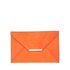 Dorothy Perkins - Orange envelope clutch bag