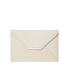Dorothy Perkins - Cream envelope clutch bag
