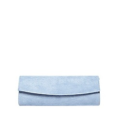 Dorothy Perkins - Light blue curve clutch bag
