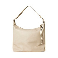 Dorothy Perkins - Natural double zip hobo bag