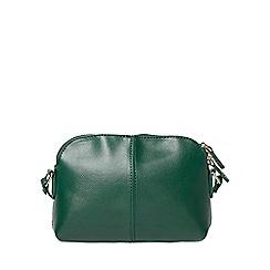 Dorothy Perkins - Green double zip cross body bag
