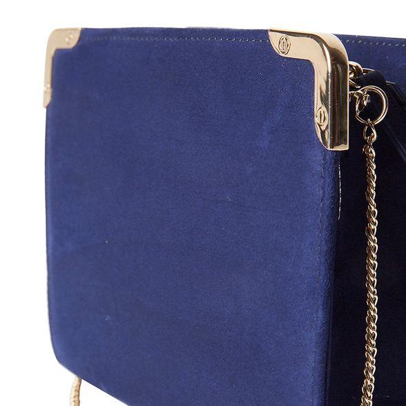 metal Perkins Dorothy Navy clutch corner bag zY1qx7w