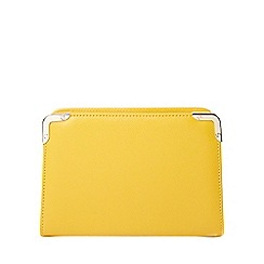 Dorothy Perkins - Mustard mini box clutch bag