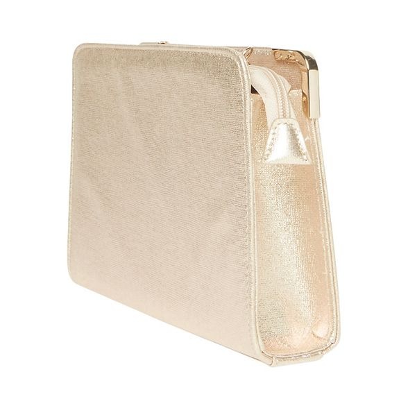 bag Perkins corner metal Dorothy Gold clutch BXFpHqw