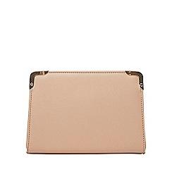 Dorothy Perkins - Mink metal corner boxy clutch bag