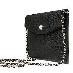 Dorothy Perkins - Black stud pocket clutch bag