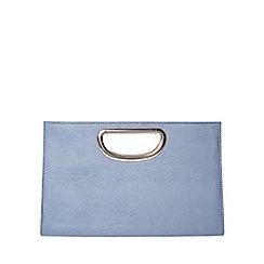 Dorothy Perkins - Blue metal handle clutch bag