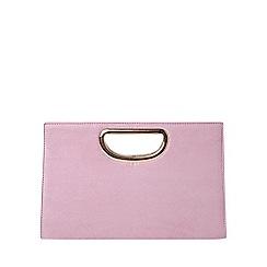 Dorothy Perkins - Lilac metal handle clutch bag