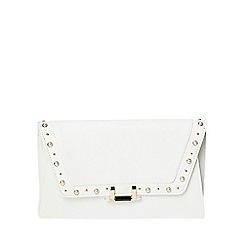 Dorothy Perkins - Ivory pearl stud clutch bag