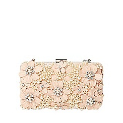 Dorothy Perkins - Blush floral box clutch bag