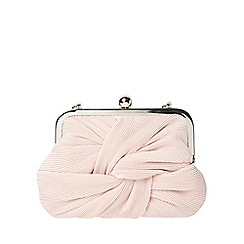 Dorothy Perkins - Blush pleat frame clutch bag
