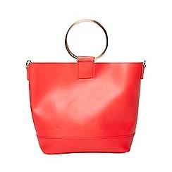 Dorothy Perkins - Red mini metal handle bag