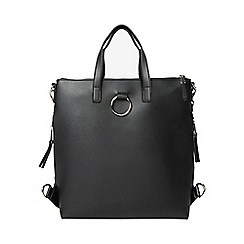 Dorothy Perkins - Black zip side backpack