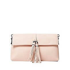 Dorothy Perkins - Peach tassel clutch bag