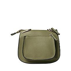 Dorothy Perkins - Khaki mini saddle cross body bag