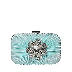 Dorothy Perkins - Mint brooch box clutch