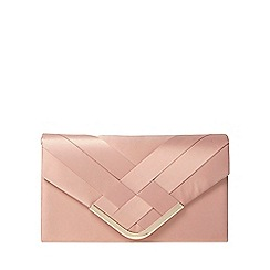 Dorothy Perkins - Blush pleat chain clutch bag