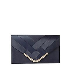 Dorothy Perkins - Navy pleat chain clutch bag
