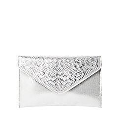 Dorothy Perkins - Silver shimmer gem clutch