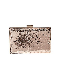 Dorothy Perkins - Rose gold sequin box clutch