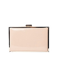 Dorothy Perkins - Nude patent box clutch bag