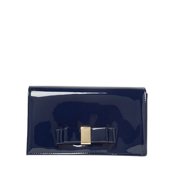 bow Perkins bag patent clutch Dorothy Navy 4taqwdwA