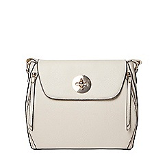 Dorothy Perkins - Grey double zip crossbody bag
