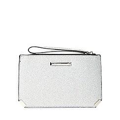 Dorothy Perkins - Silver metal corner wristlet clutch bag