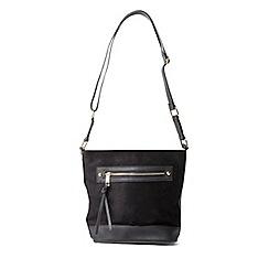 Dorothy Perkins - Black zip bucket bag