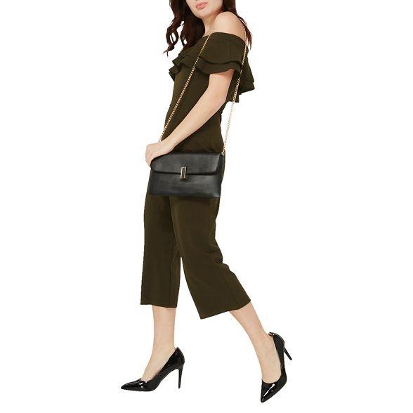 bag Black clutch twist lock Perkins Dorothy XqSOx0w1z