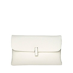 Dorothy Perkins - White twist lock clutch bag