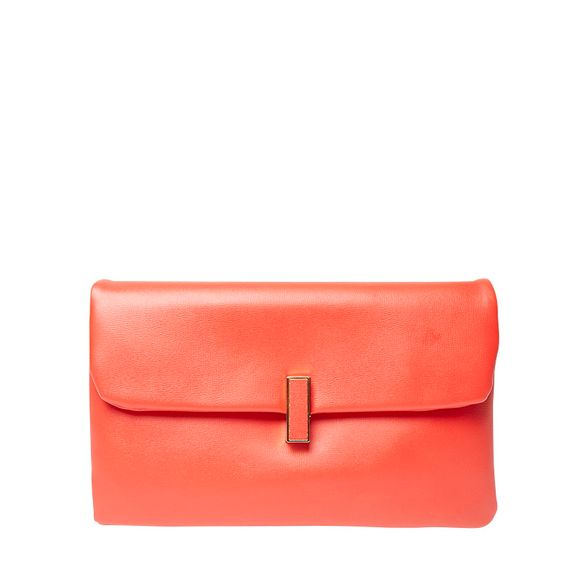 Red twistlock bag Perkins Dorothy clutch XwH5EF