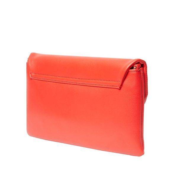 Red twistlock clutch Perkins Dorothy bag w5q6nAC