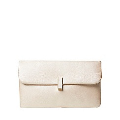 Dorothy Perkins - Rose gold twistlock clutch bag
