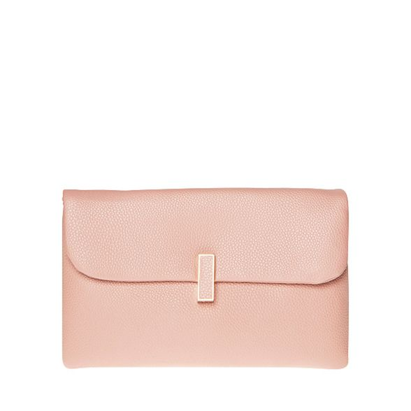 clutch bag Dorothy twist Perkins Rose lock nwAnPRqC