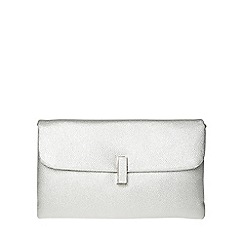 Dorothy Perkins - Silver twist lock clutch bag