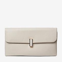 Dorothy Perkins - Grey twistlock clutch bag