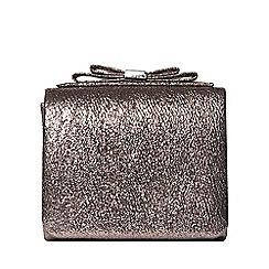 Dorothy Perkins - Bronze bow boxy clutch