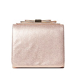 Dorothy Perkins - Rose gold bow boxy clutch