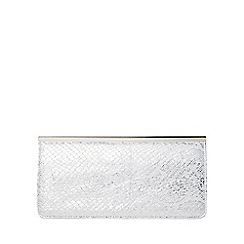 Dorothy Perkins - Silver bar top clutch