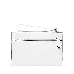 Dorothy Perkins - White double zip wristlet