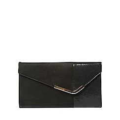 Dorothy Perkins - Black halfnhalf clutch bag