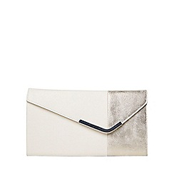 Dorothy Perkins - White halfnhalf clutch bag