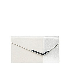 Dorothy Perkins - Grey halfnhalf bar clutch bag