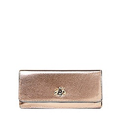 Dorothy Perkins - Rose gold bee studded foldover purse