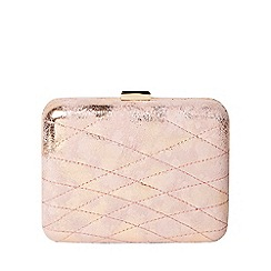Dorothy Perkins - Nude shimmer boxy clutch bag