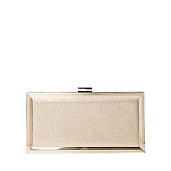 Dorothy Perkins - Gold boxy shimmer clutch bag