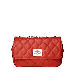 Dorothy Perkins - Red large quilt clutch bag